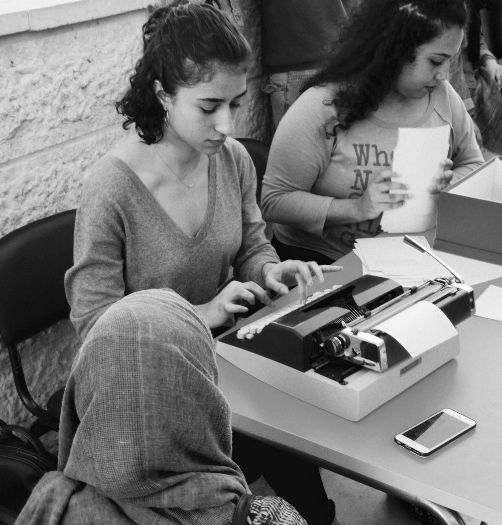 BBC Arabic - Not Your Habibti is a project created by BabyFist's founder, Yasmeen, to document stories of street and sexual harassment in Palestine. She set up a typewrite in Clock Circle in Ramallah and took down tens of stories. BBC covered her project for BBC's 100 Women of 2017. Watch the video here.