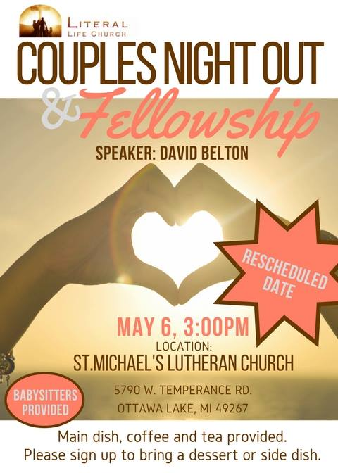 Couples Night Out And Fellowship Literal Life Church