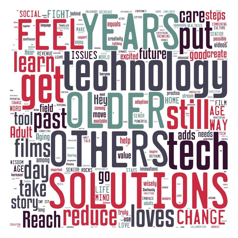 Aging 2.0 Happyhour PopUp Wordcloud