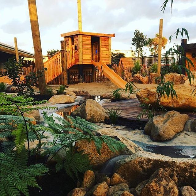 Such a pleasure to watch these outdoor playground plans come to life at @houseofwondergisborne, and now observe our new tamariki engaging in play this week #ece #childcare #nature #natureplay #newzealand #education #love #passion