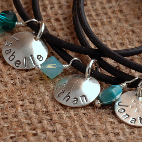 personalized silicone bracelet set of 4 3.jpg