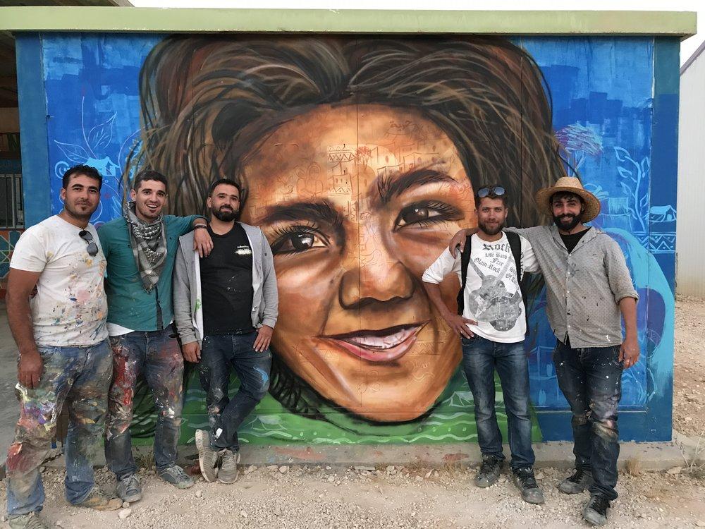 Jasmine Necklace artist collective, Zaatari Refugee Camp.                           Photo Credit: Artolution