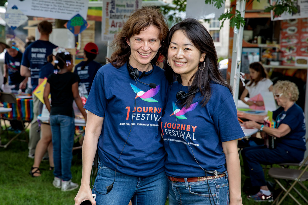 Vanda Berninger (left) and Wendy Chan (right), co-founders of the One Journey movement.