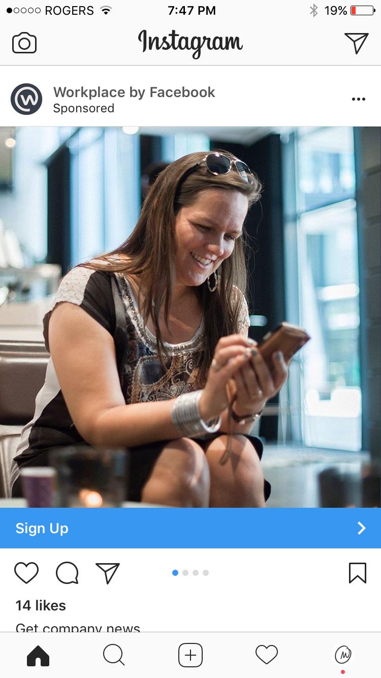 Inline Instagram Ad.