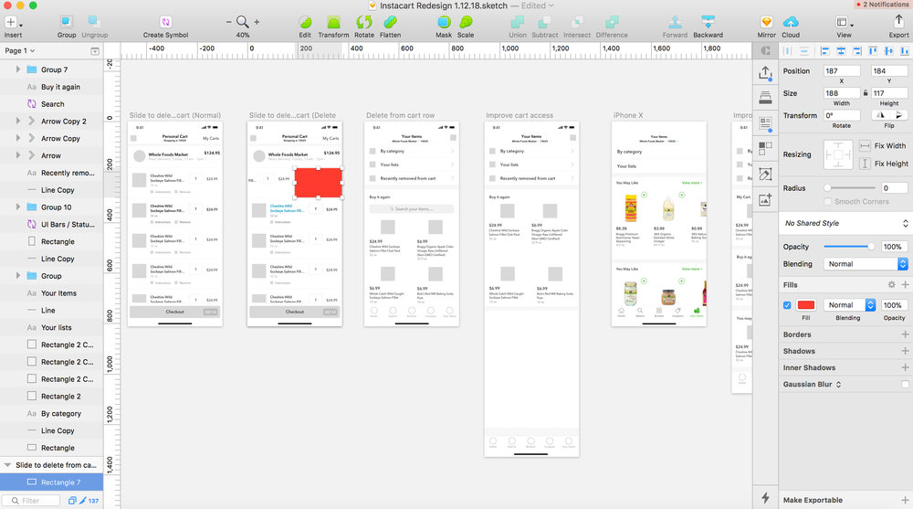 Fine-tuning More Wireframes/Mockup Examples in Sketch 3