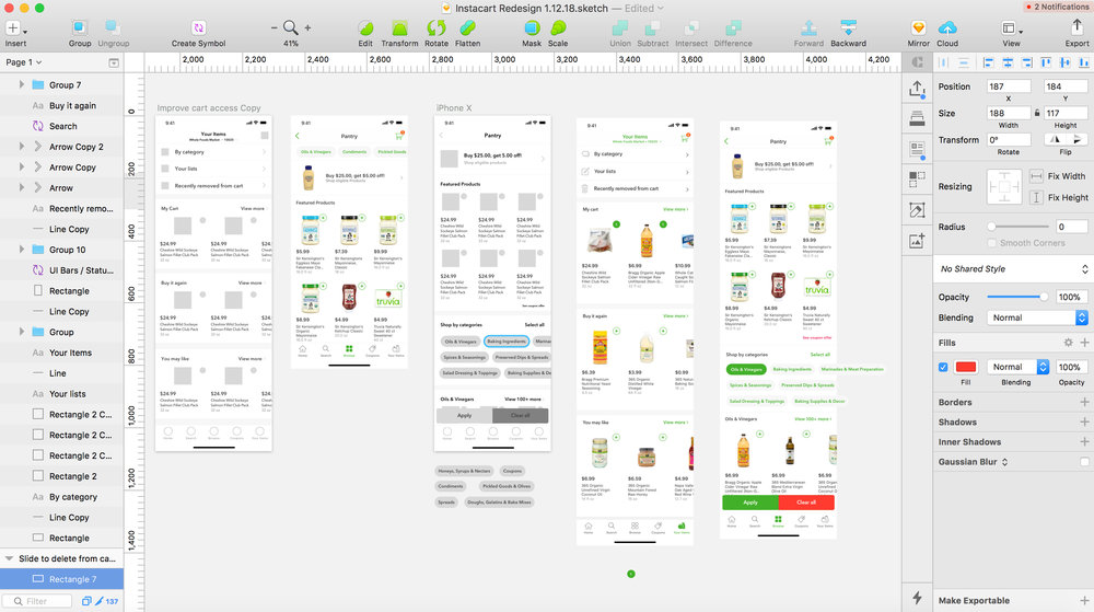 Fine-tuning Wireframes/Mockup Examples in Sketch 3