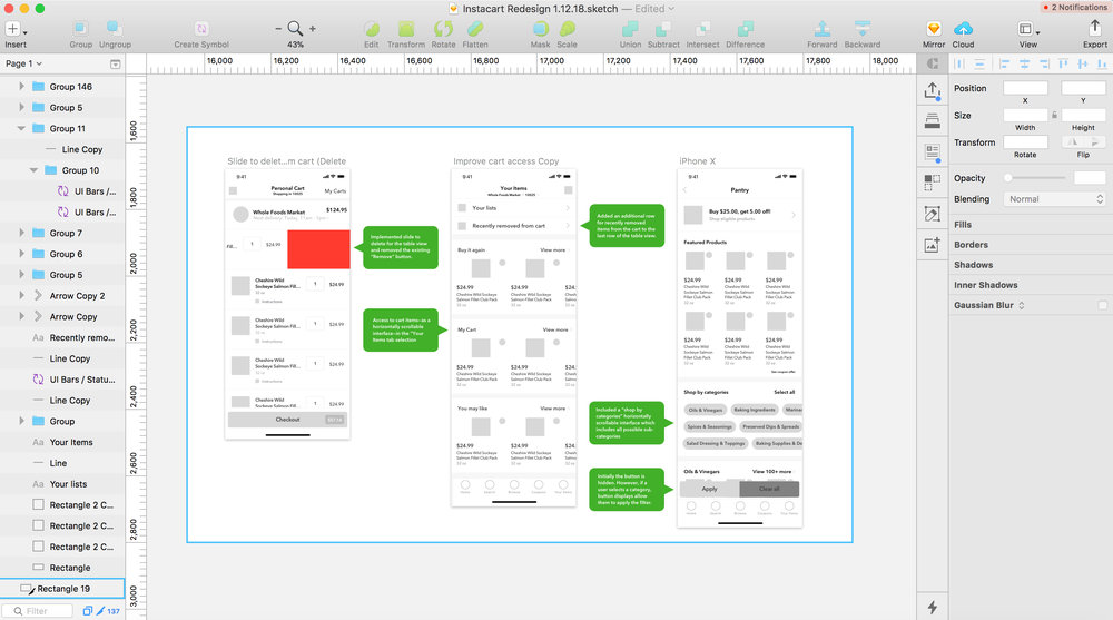 Preparing Final Export for Wireframes in Sketch 3