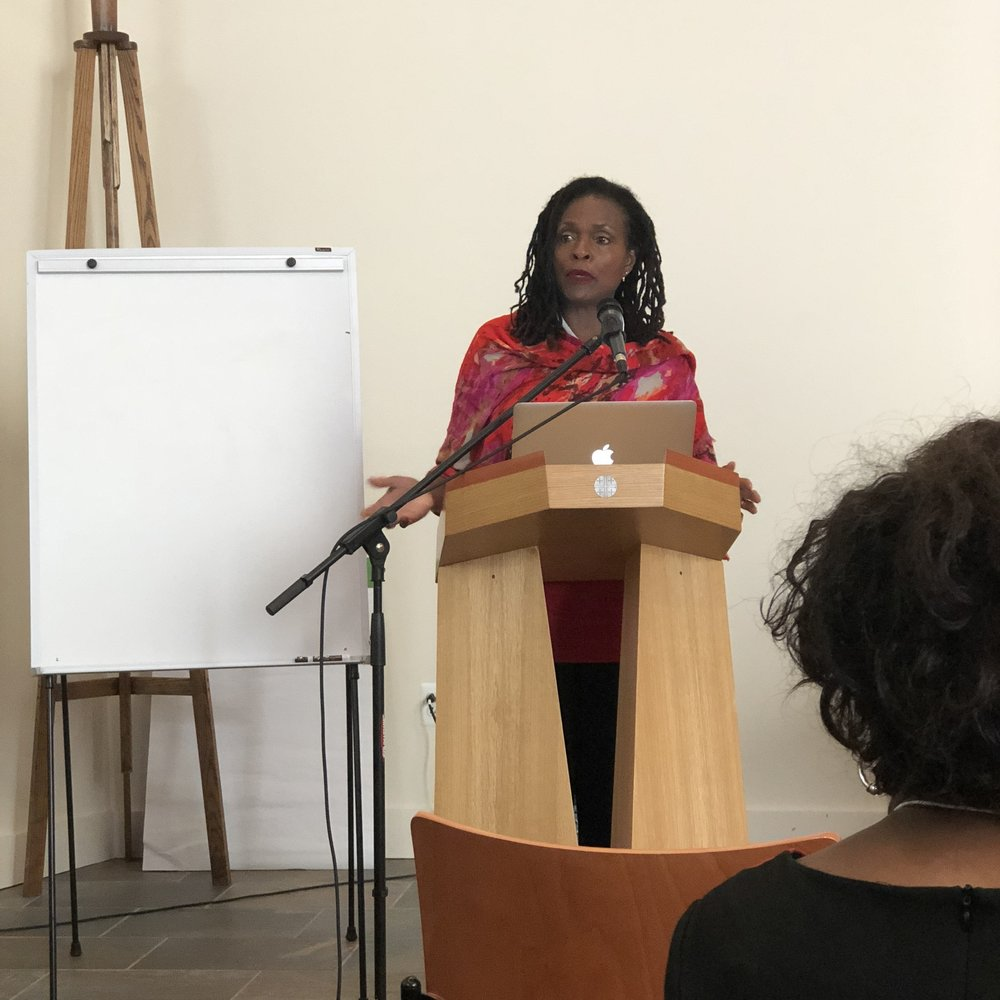 """Rev. Jacquie Lewis offered a living keynote titled, """"Storying Our Lives"""""""