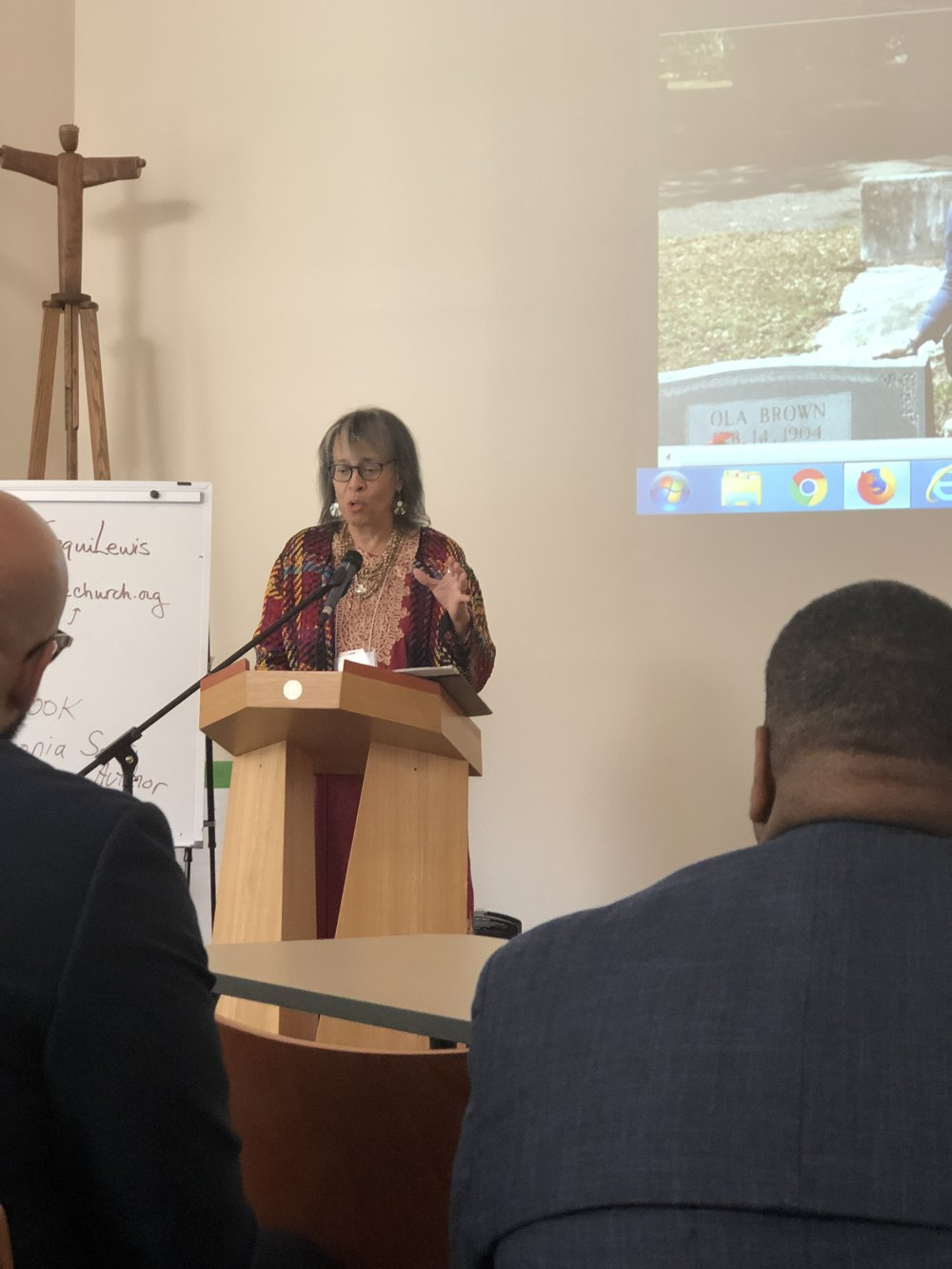 """Joyce Dinkins of Our Daily Bread Ministries speaking on """"The Face of Christian Publishing""""from a place of love, humility, and grace."""