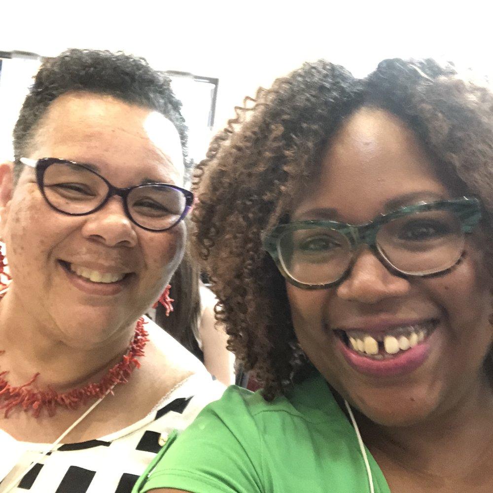 Selfie with my mentor and friend Rev. N. Lynne Westfield, PhD