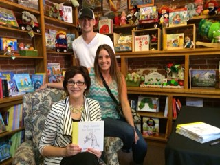 Diane sharing her book TWO HANDS TO LOVE YOU at Frugal Frigate in Redlands, CA