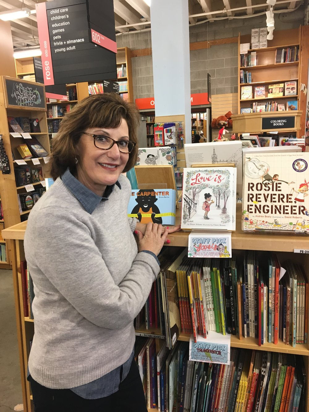 Diane's dream was to have her book in  Powell's  in Portland...and here it IS!