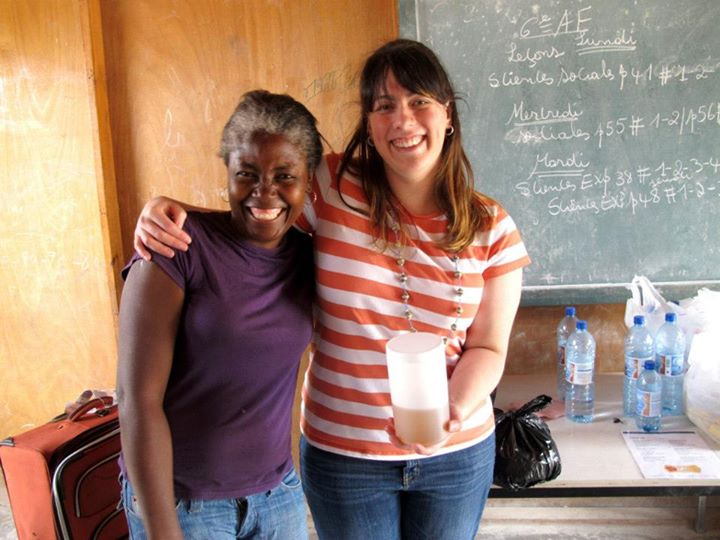 Lovin' Soap Project co-founder Amanda Gail with Community Member. Photo courtesy of  Lovinsoapproject.org