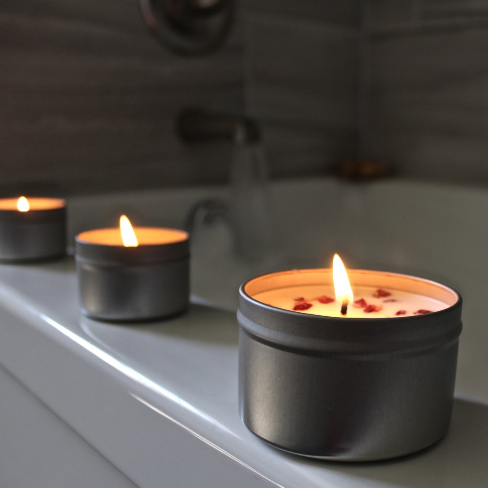 Our Spa Travel Candles make amazing bath time companions.