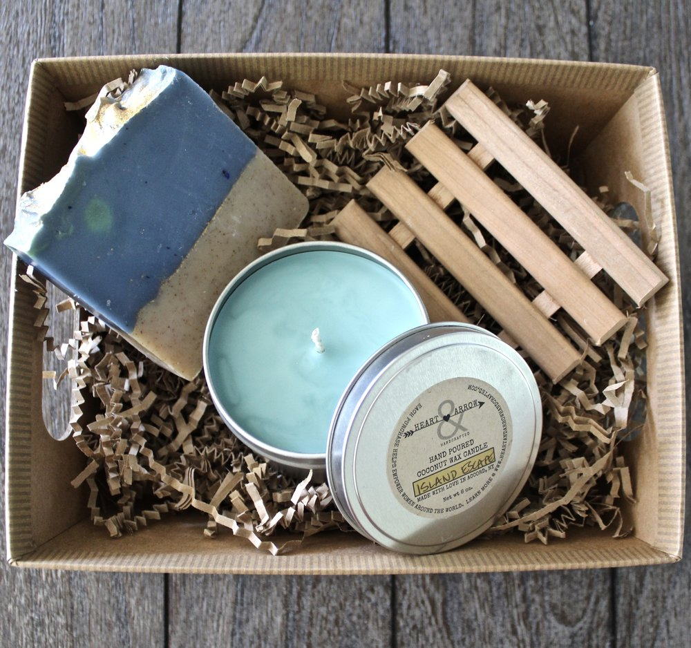 Our Spa Candles make an incredibly special addition to a  custom gift set .