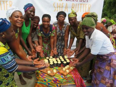 Members of the Baraka Shea Butter Cooperative proudly show the hands with which they make our most valued ingredient.  photo courtesy of    sheabutterrecipes.com   , the awesome blog of Baraka Shea Butter.