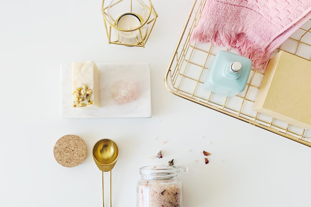 The ingredients for a DIY personal home spa sesh are so simple! A little preparation & you'll be set for many moons of self-care.