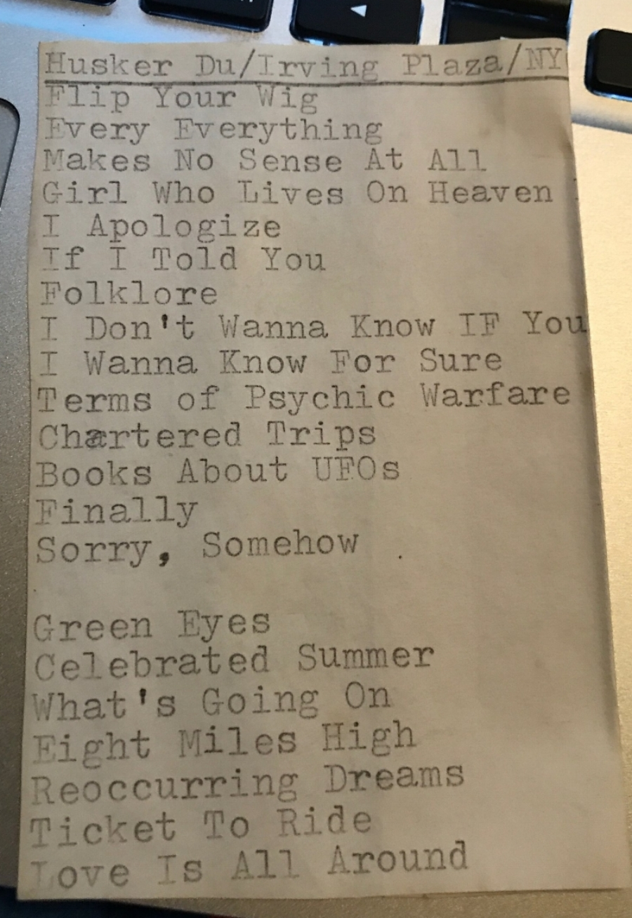 Early Show setlist