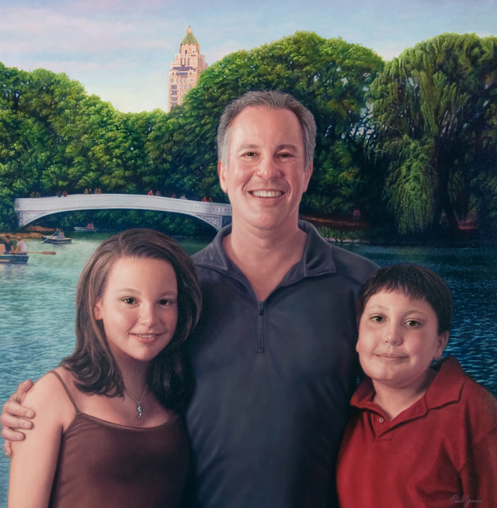 Family portrait in Central Park