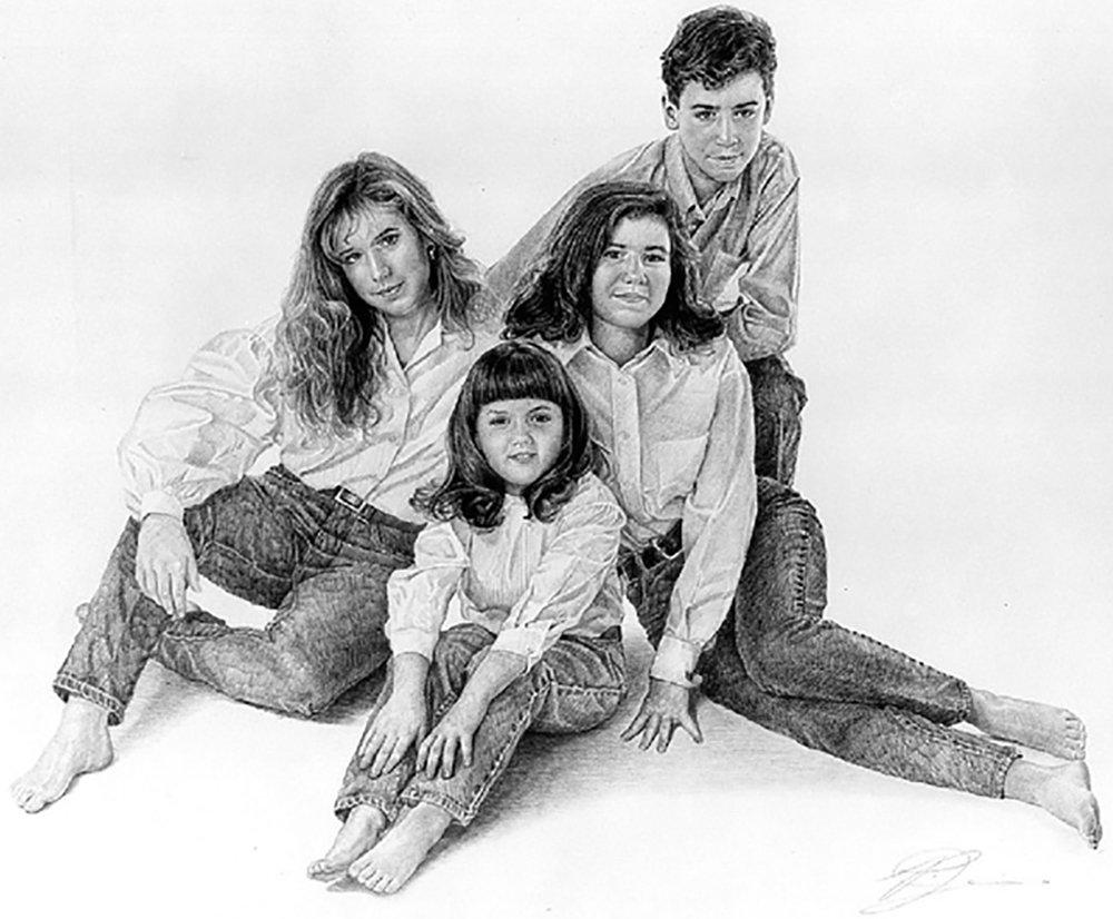 Portrait of Nextel CEO's family