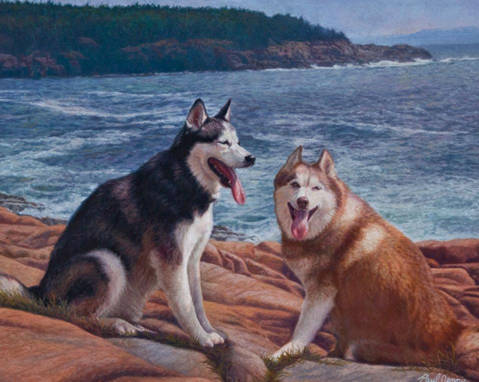 Huskies by the Sea