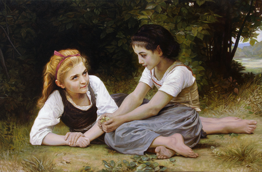 Nut Gatherers, William-Adolphe Bouguereau