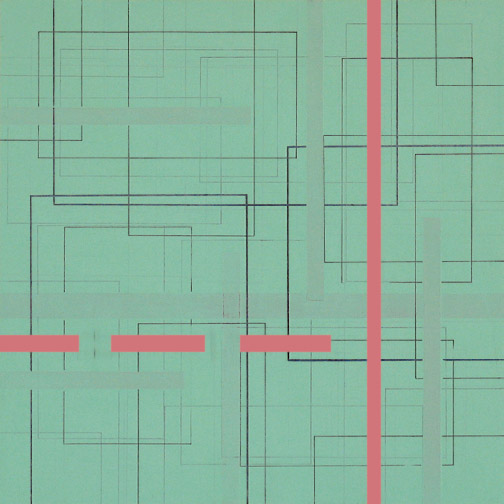 "Color Theory 4  Acrylic on Hardboard  12"" x 12""  2004"