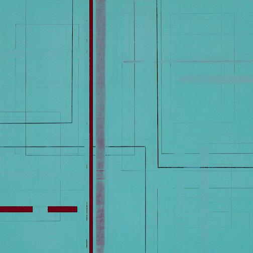 "Color Theory 6  Acrylic on Hardboard  12"" x 12""  2004"