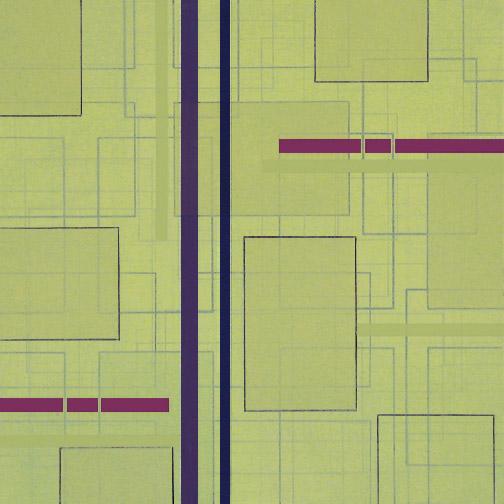 "Color Theory 9  Acrylic on Hardboard  12"" x 12""  2005"