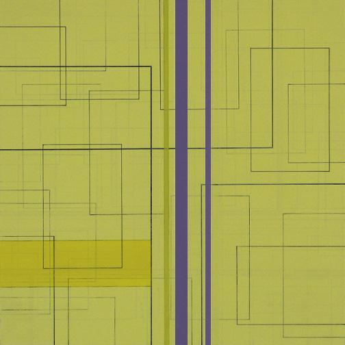 "Color Theory 10  Acrylic on Hardboard  12"" x 12""  2005"