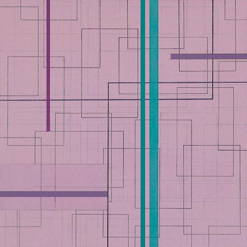"Color Theory 12  Acrylic on Hardboard  12"" x 12""  2005"