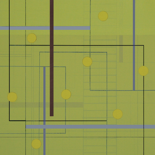 "Color Theory 21  Acrylic on Hardboard  12"" x 12""  2006"
