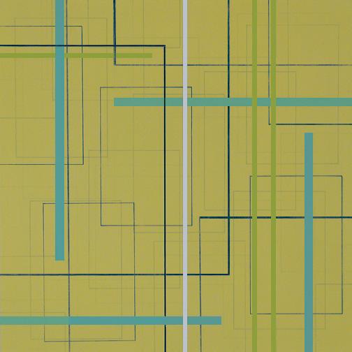 "Color Theory 25  Acrylic on Hardboard  12"" x 12""  2006"