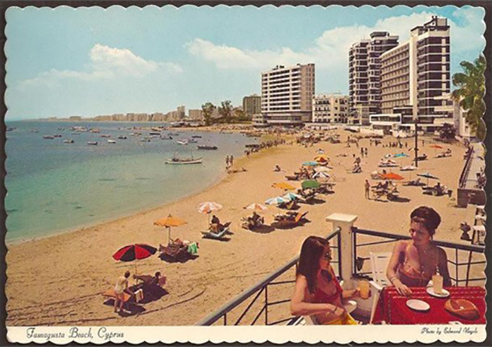 A view of pre-invasion Famagusta Beach looking south.