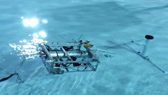 Our 2015 ROV performing its qualifier for competition.