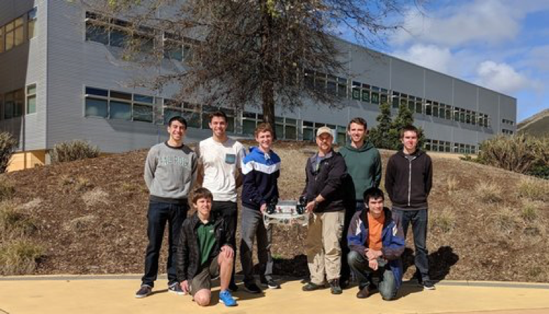 2018 Team Picture - Coming from mixed majors and backgrounds, we are building a task-based vehicle for both competition and research in aquatic environments.TEAM LEADS - AJ & JARED