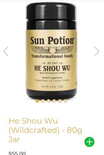 Beauty from the inside out. Sun Potion, He Shou Wu