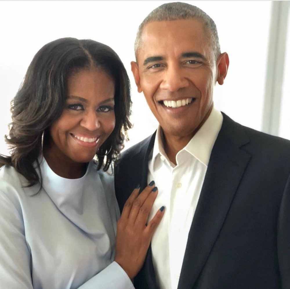 Our first couple 1st Lady Michelle and President Barack Obama