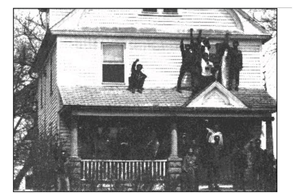 Kuumba House- Black United Students 1st Black Culture Center 1969, where many events of the 1st Black History Month celebrations took place.