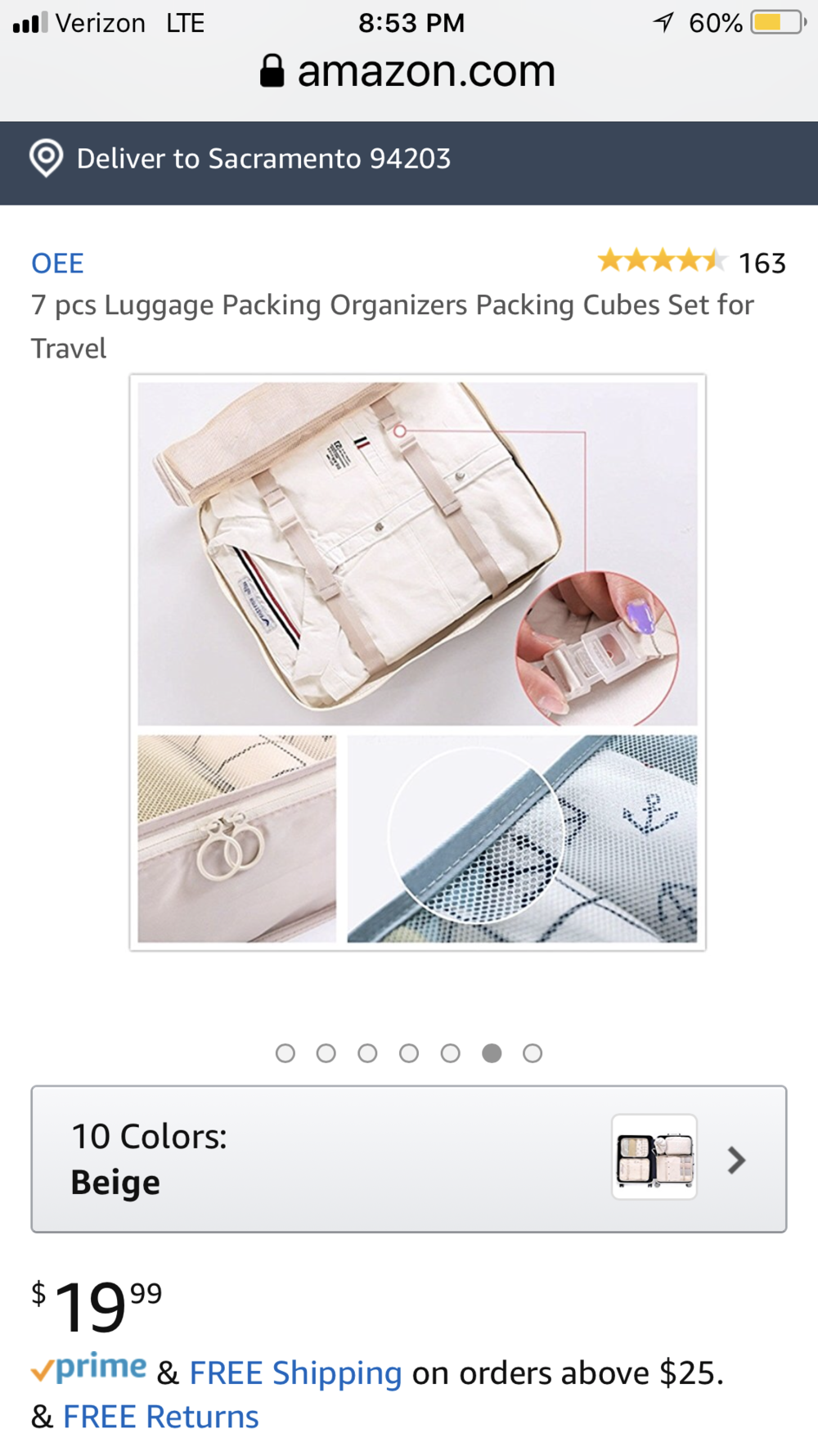 Here is another brand to choose from. This one is a few dollars less but still pretty much the same concept. Notice the depth of the cubes to ensure that you get exactly the organizers that work best for you. For example, your little ones may not need a dense space for which to pack, seeing as how tiny their clothes are compared to the adult size clothing.