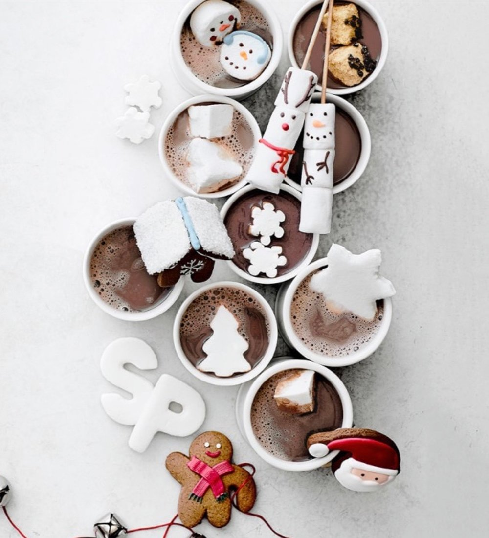 Set up a hot chocolate bar with all of the fixings…