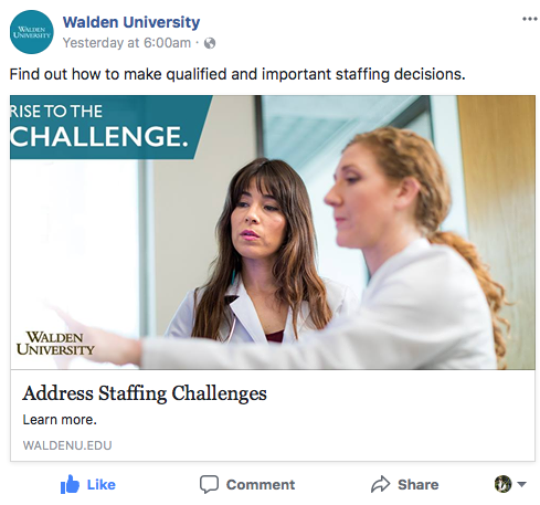 Walden University  - Find out how to make qualified and important staffing decisions.