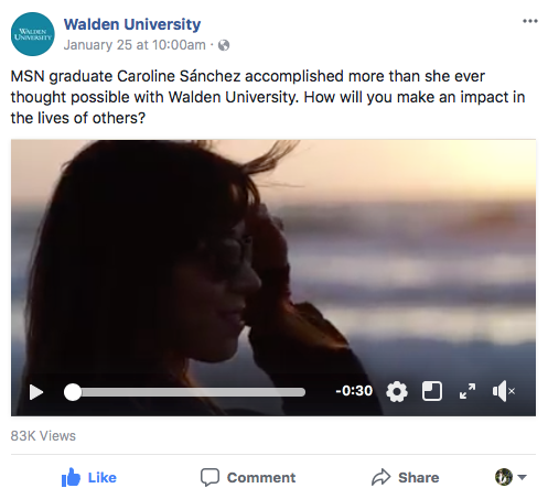 Walden University MSN Follow Your Why Campaign - MSN graduate Caroline Sánchez accomplished more than she ever thought possible with Walden University. How will you make an impact in the lives of others?