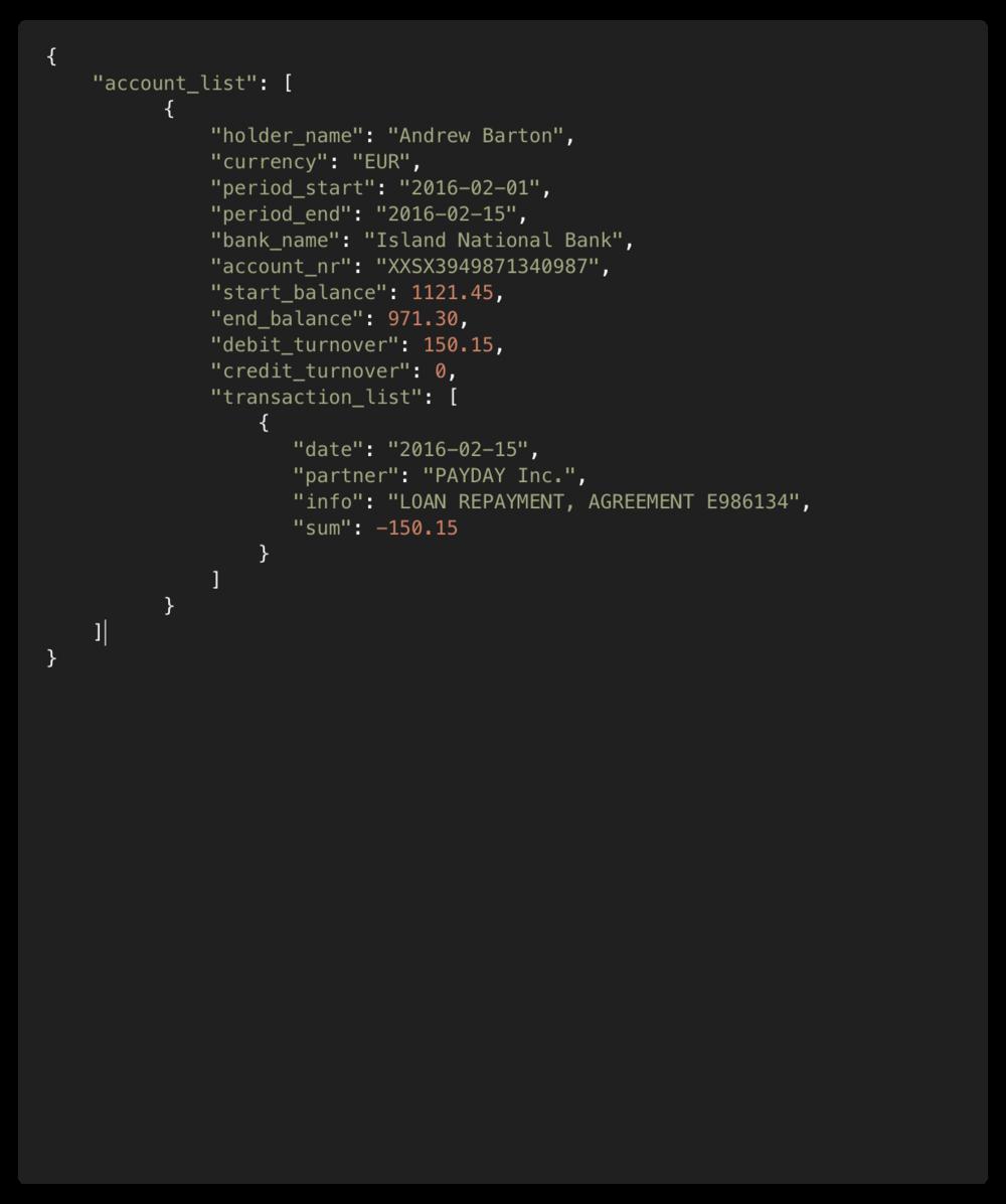Input file (JSON) -