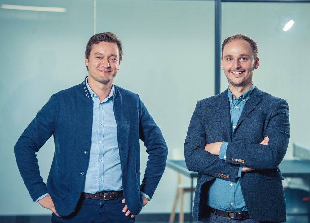 Nordigen Co-founders. Managing director and CEO Rolands Mesters (right) and Head of Data Roberts Bernans.