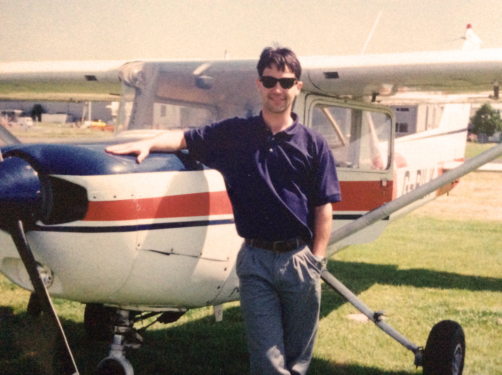 My first solo - My flying started with a private pilots licence at Exeter Airport in 1992, and then in 2004, I resigned from a marketing career to study at Oxford Aviation, two years later qualifying as a commercial airline pilot. After that progressing an ATR 42/72 type rating and then a single engine Flying Instructor - it was teaching others that showed me a whole new level of airmanship.So, if flying the heavy metal is on your bucket list of things to do, and you're interested in booking a flight, or maybe it's for a present, perhaps someone you know needs help with fear of flying - please do get in touch.