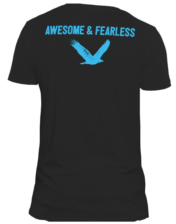 awesome and fearless t shirt
