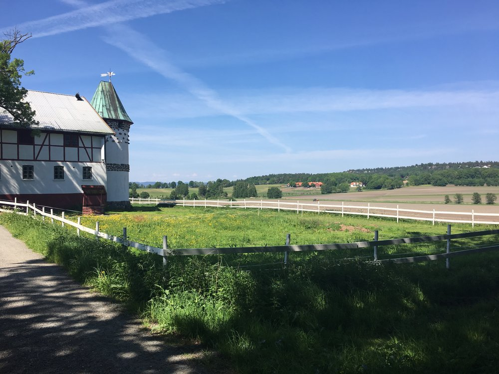 Alby gård på Jeløy en dag i mai 2018
