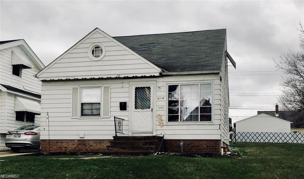 9714 Plymouth Ave, Garfield Hts, OH 44125  3 bed 1 bath | 1,326 Sq. Ft. | $44,900