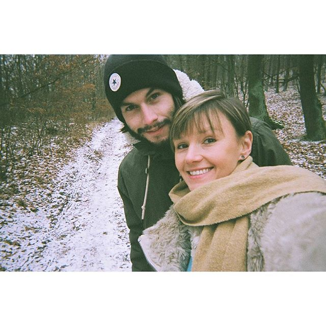 📸 on #disposablecamera in #brno #czech #snowing in the #woods, #nofilter... #happylittlevegemites